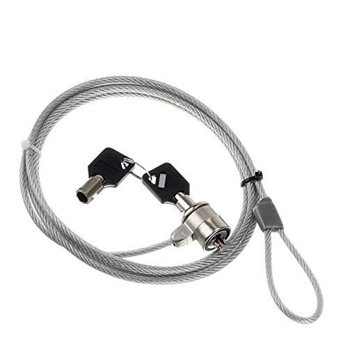 yan Laptop Security Key Lock Cable Kensington Slot for HP Dell IBM Mac Anti-Theft