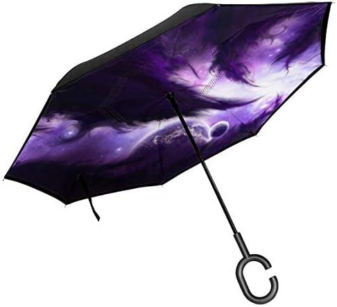 パープルスペース 逆さ傘 逆折り式傘 車用傘 耐風 撥水 遮光遮熱 大きい 手離れC型手元 梅雨 紫外線対策 晴雨兼用 ビジネス用 車用 UVカット
