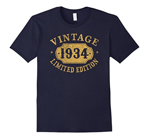 Mens 1934 84 years old 84th B-day Limited Birthday Gift T-Shirt Large Navy