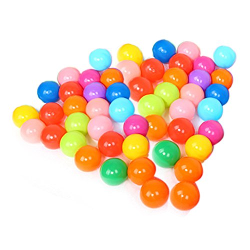 Vktech Jocestyle Colorful Ball Soft Plastic Ocean Balls funny baby kid Swim Pit Toy (100pcs) (50 Pcs)