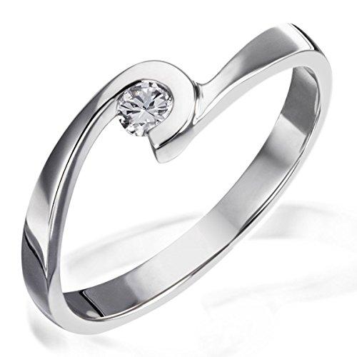 Goldmaid - Sd R6491S - Bague - Argent 925 - Diamant