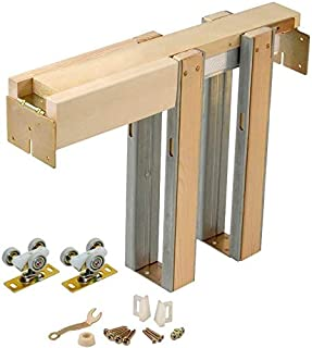 product image for Johnson Hardware 1500 Series Commercial Grade Pocket Door Hardware For 2x4 Stud Wall (36 Inch x 96 Inch)