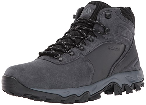 - Columbia Men's Newton Ridge Plus II Suede Waterproof Boot, Breathable with High-Traction Grip Hiking, Shark, Black, 9 Regular US