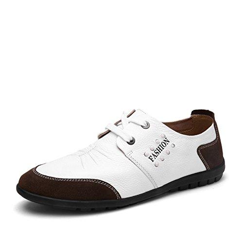 Zapatos ocasionales del negocio del verano/Inglaterra, zapatos de hombres blanco