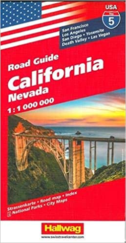 Hallwag USA Road Guide 05. California 1 : 1 000 000: Nevada ...