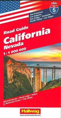 Hallwag USA California Nevada Road Map (Anglais) Carte – Carte pliée, 2 décembre 2011 Hallwag International Bern 3828307566 Maps