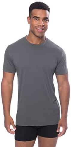 fbdbae43d Crew Neck Undershirt for Men - Luxury Shirt in Bamboo Viscose by Texere