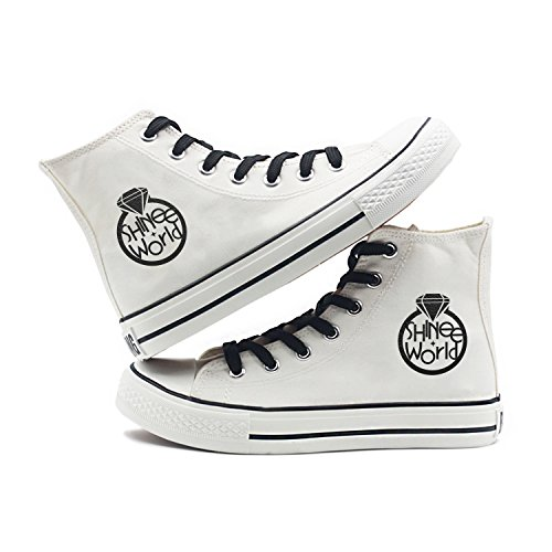 Fanstown Kpop Sneakers Canvas Shoes Donna Taglia Bianca Fanshion Memeber Hiphop Style Supporto Ventola Con Lomo Card Shinee