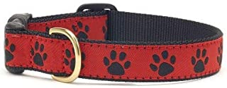 product image for Up Country Red Black Paw Dog Collar - Large (Wide)