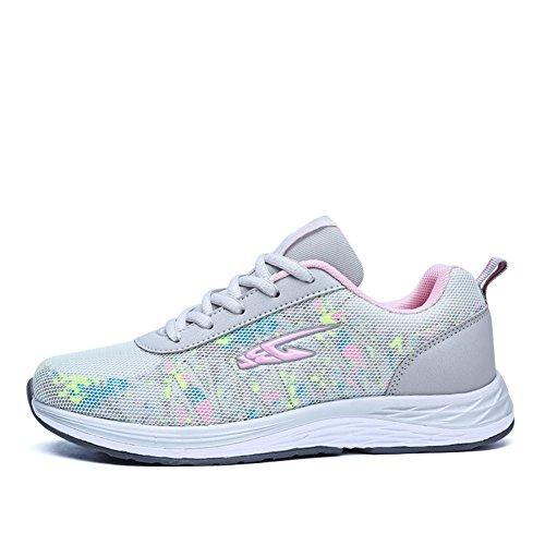Hooh Sneakers Da Donna Leggero Antiscivolo Da Escursionismo Running Walking Scarpe Sportive Casual Grigie