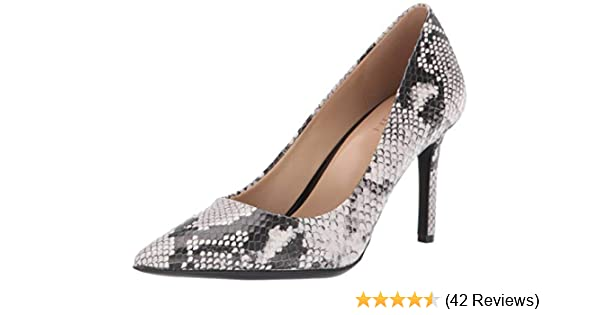 Black Smooth 8.5 M Naturalizer Womens Hughes Closed Toe Wedge Pumps