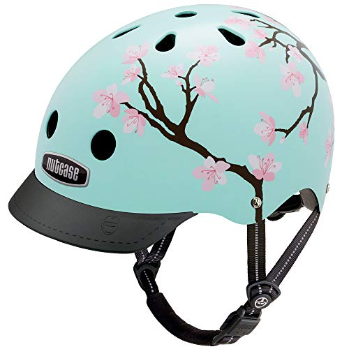 Suit Street Bike (Nutcase - Patterned Street Bike Helmet for Adults, Cherry Blossoms, Small)