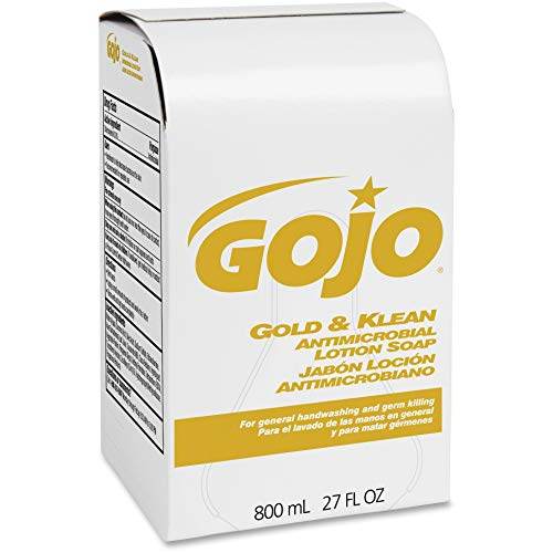 GOJ912712 - GOJO 9127-12 Gold amp; Klean Antimicrobial Lotion Soap Refills, 800 mL (Lotion Soap Klean Antimicrobial)