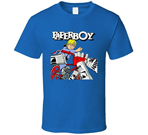 Adults Blue Paperboy Video Game T-shirt