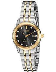 Citizen Womens PAIRS Quartz Stainless Steel Casual Watch, Color:Two Tone (Model: EW2394-59E)