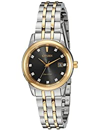 Women's 'PAIRS' Quartz Stainless Steel Casual Watch, Color:Two Tone (Model: EW2394-59E)