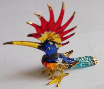 Handmade Animal Figurine Art Glass Blown Woodpeckers Beautiful Bird Best Gift Figurine Collection