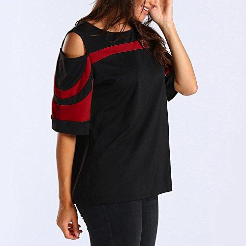 Tinta Vest Canotta Unita Camicie Canotte T ChallengE Estive Top felpa Estivi Shirt Donna Vestiti Pullover Tops Rosso Donna Camicetta Canottiera Corte Maniche Maglietta Blouse nqwIARWxA
