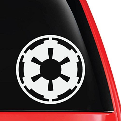 "EvolveFISH Imperial Galactic Empire Logo Vinyl Decal White 5"""