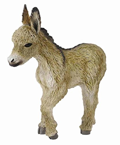 CollectA Farm Life Donkey Foal (Walking) Toy Figure - Authentic Hand Painted Model