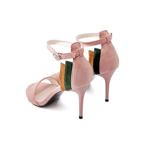 Zapatos Se Alto LI Sandalias BAJIAN heelsWomen oras Chanclas Toe Bajos Peep Verano Zapatos Sandalias pFHxqOgCwx