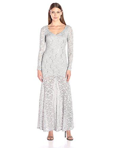 Buy marina illusion lace dress - 9