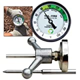 Tel-Tru GT300R Compost Thermometer, 3 inch Zoned dial, 48 inch stem, 0/200 Degrees F, Includes Insertion Handle