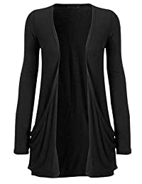 Fashipap Womens Ladies Open Boyfriend Cardigan Jersey Shrug With Pockets US 4-22