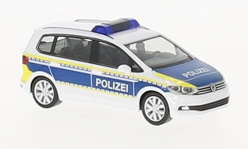 Fertigmodell VW Touran Polizei Brandenburg Herpa 1:87 Modellauto
