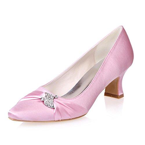 L@YC Female Pointed Wedding Office & & Evening Wear Evening Fine Heel Platform/0723-04 Pink 7ZBJazzYt