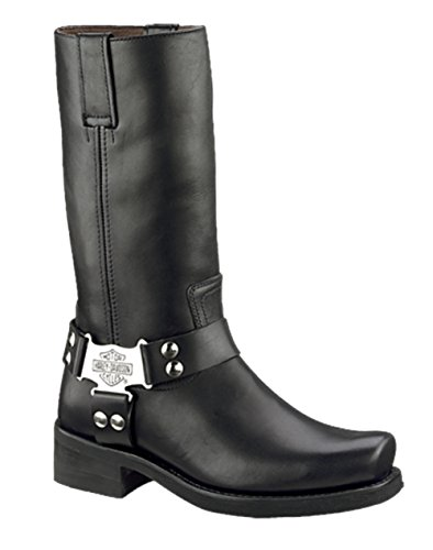 Harley-Davidson Mens Iroquois Black High Cut Riding Boot (El Paso Black Mens Boots)