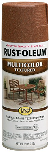 Rust-Oleum 239122 Multi-Color Textured Spray Paint, 12 oz, Rustic Umber