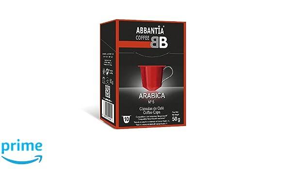 120 Cápsulas de Café 100% Arábica Abbantia compatibles con Nespresso: Amazon.es: Alimentación y bebidas