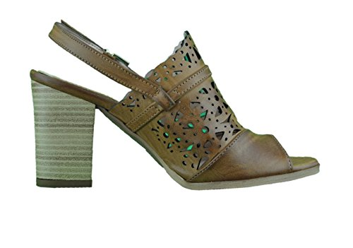 Sandali donna open toe fasciati cuoio made in Italy