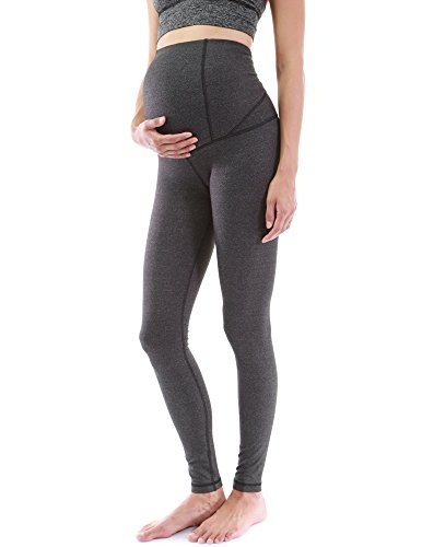 PattyBoutik Mama Shaping Series Maternity Legging Yoga Pants (Heather Dark Gray...