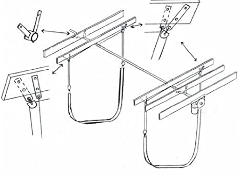 Amazon Com 6000 Lb Sling Boat Lift Kit Sailing Rigging Sports