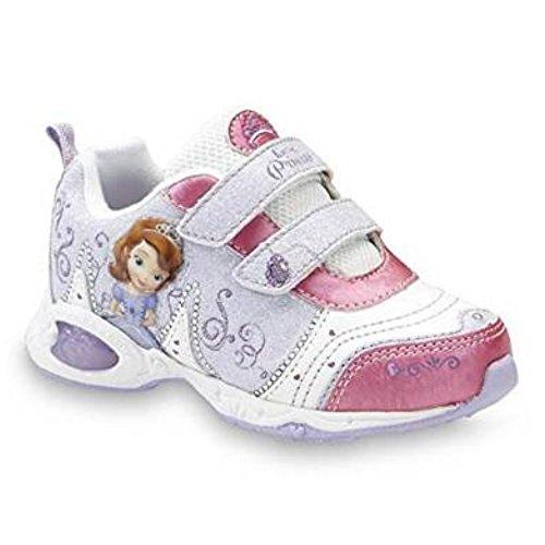 Disney Prinzessin Sofia die Erste Sofia the First Kinder Mädchen Schuhe Blink Licht leucht Turnschuhe US8 EU25