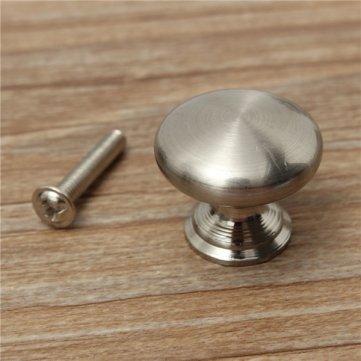 18/25/30mm à vis en acier inoxydable avec poignée de meuble de cuisine Bouton de placard Nickel Hardware Kyz Kuv G227977N
