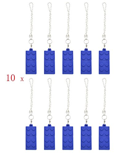 FEBNISCTE Key Chain Model Memory Stick Blue Building Block 4GB USB 2.0 Thumb Pen Drive - 100 Pack by FEBNISCTE (Image #1)