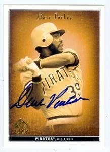 Dave Parker autographed Baseball Card (Pittsburgh Pirates) 2002 Upper Deck Legendary Cuts #15 - Autographed Baseball Cards ()