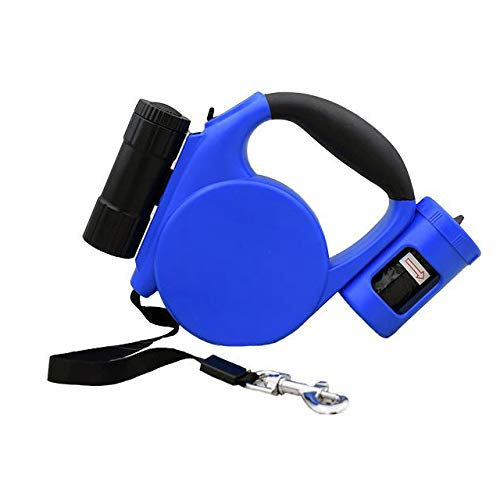 bluee Dog Leash, Tangle-Free Heavy Duty Dog Walking Leash LED Light