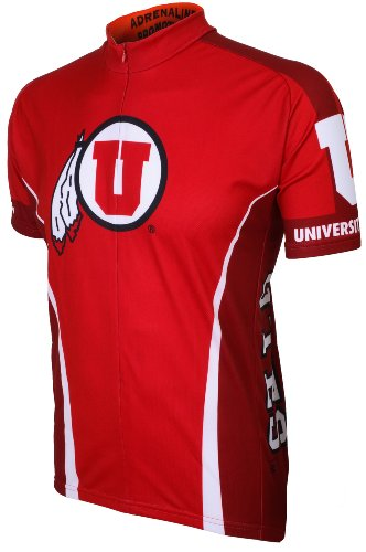 (NCAA Utah Cycling Jersey, Red, Large )