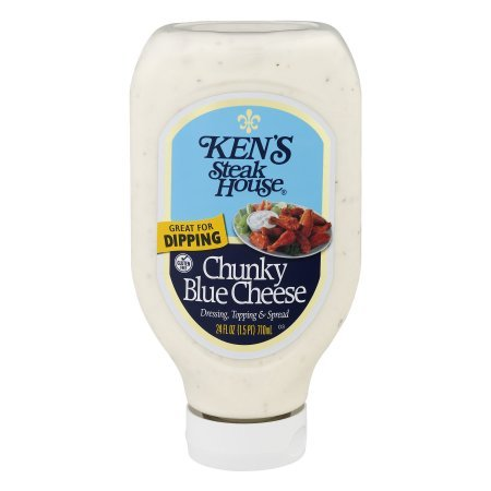 Ken's Steak House Dressing Topping & Spread Chunky Blue Cheese, 24.0 FL OZ