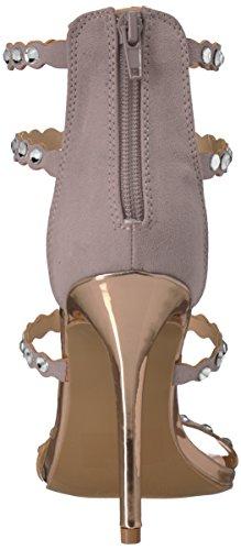 Suede Femme Strass Qupid Grey À Simple Sandale Light Semelle Polyurethane Avec qxzzrw6YX