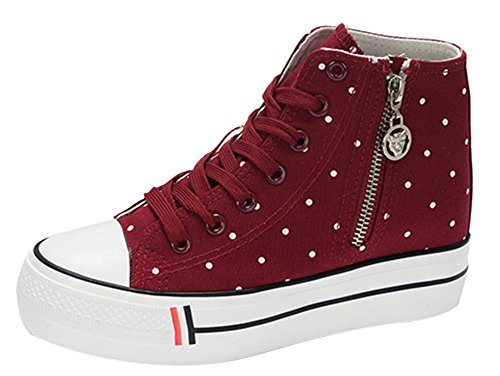 Teen girls platform High top lace up Sneakers product image