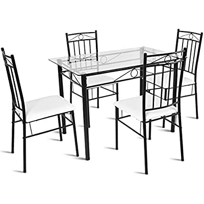 tangkula-5-piece-dining-table-set