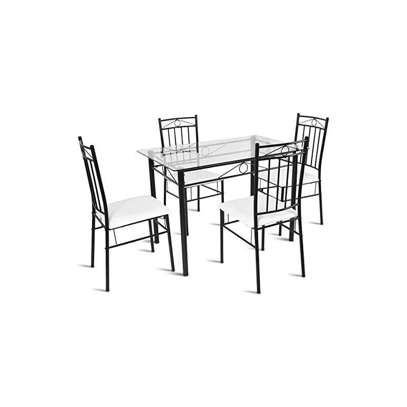tangkula-5-piece-dining-table-set