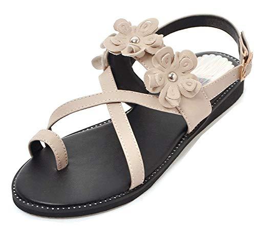 Plates Chaussures Aisun Femme C Belle Fleurs Orteil xqq0AI