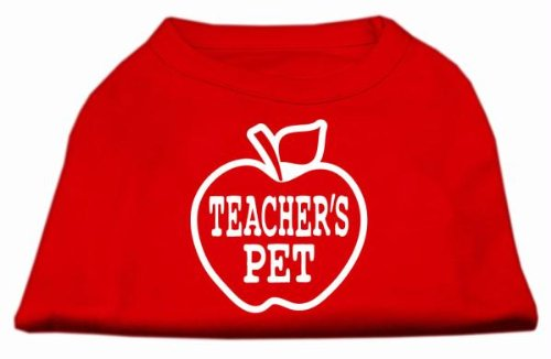 Dog   Cat   Pet Charms Teachers Pet Screen Print Shirt Red XL (16)