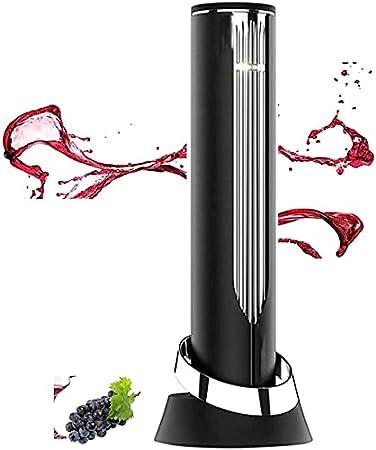 Sacacorchos de vino eléctrico, botella de vino eléctrica inalámbrica, accesorios de cocina reutilizables, apto para cenas familiares, amantes del vino, negro